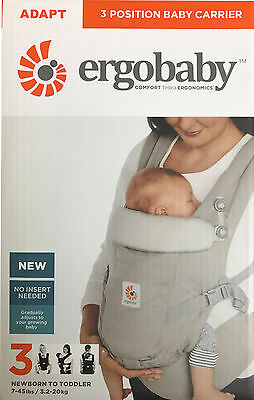 Ergobaby Adapt 3 ergo position baby child carrier sling backpack - Pearl Grey