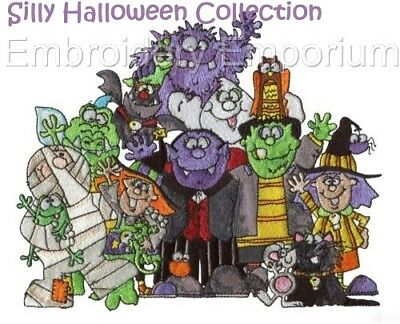 Silly Halloween Collection - Machine Embroidery Designs On Cd