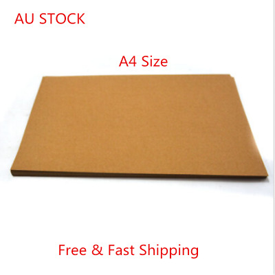 200Pc A4 Brown Kraft Paper Sheet 250GSM Natural Recycled Invitation Wedding Card