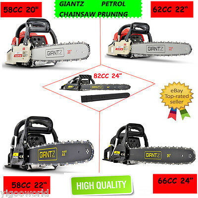 58/62/66/88 CC Petrol Commercial Chainsaw E-Start Tree Pruning Garden Chain Saw