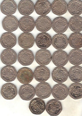 United Kingdom Lot Of 32 Twenty Pence Coins
