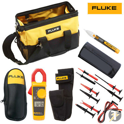 Fluke 323 Clamp Meter KIT5T SureGrip Test clips and Lead Set plus case and more