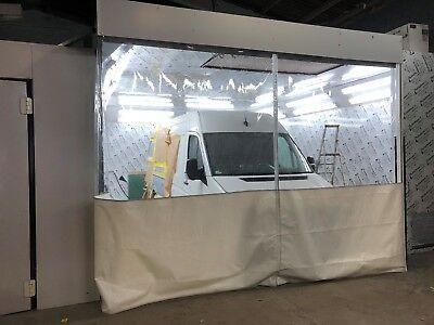 Clear And White Sand Blasting Dust  Workshop Curtains /   Dividers 20 Ft X 8 Ft