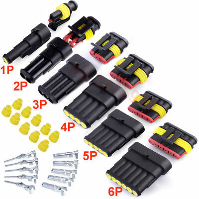 10Kit 3/4Pin Way Car Motorcycle Sealed Waterproof Electrical Wire Connector Plug