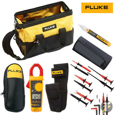 Fluke 325 Clamp Meter KIT5W SureGrip Test clips and TL175E Lead Set plus more