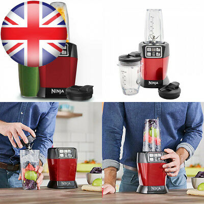 Nutri Ninja 1000W Blender with Auto-iQ - BL480UKMR - Red