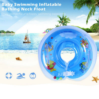 Swimming Circle Toy Float Ring Inflatable Safety Neck New Bath Baby Newborn Haz