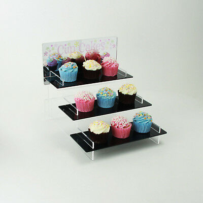 Cupcake Display Stand, Mirror Printed Header, Tiered Stand, Buns, Cakes, Bakery