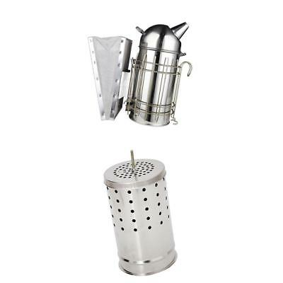 Set of Bee Hive Smoker Large Smoke Fumes Machine & Barrel Kits