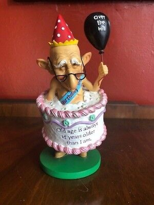 North American Coots Old Man Bobblehead Figurine Funny Birthday Over the Hill