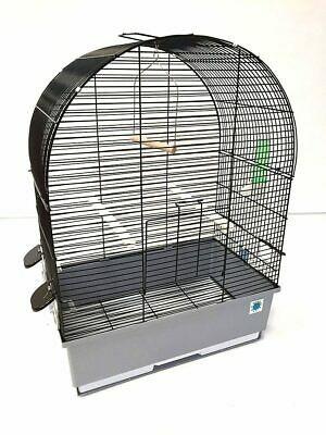 Crystal Large Metal Bird Cage for Budgie Canary Tray Perch Feeder - 3 Styles