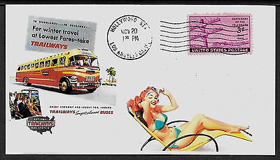 1940s Trailways Bus System Featured on Collector's Envelope *A517