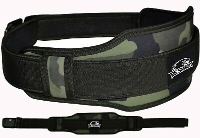 Weight Lifting Belt Neoprene Gym Fitness Workout Double Support Brace (GREEN CAM