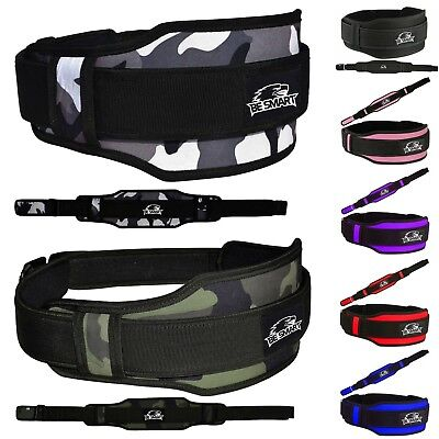 Weight Lifting Belt Neoprene Gym Fitness Workout Double Support Brace (GRAY CAMO