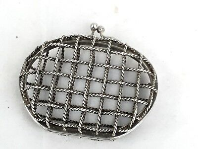 Antique/Vintage Silver Purse Cage Or Cover, French 800