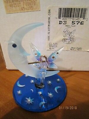2001 Glass Baron Moon Fairy 22 kt. Gold Swarovski Crystals NEW in box
