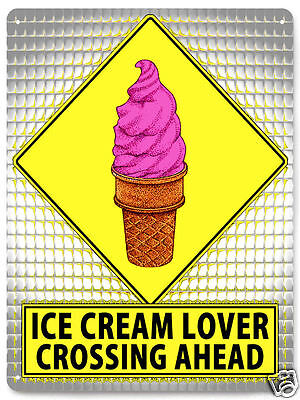 Ice Cream METAL STREET SIGN Dairy funny GIFT Deli / HOME Kitchen wall decor 506
