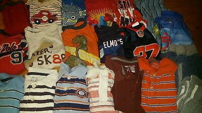 Huge Lot of 20 Boys 18 24 Months 2t Summer Tee Shirts Shorts Polos Swim Trunks