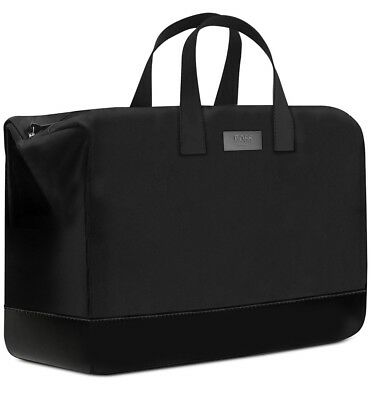 BOSS HUGO BOSS PARFUMS black weekender bag duffle handbag travel gym NEW