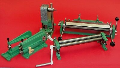 Berkroy 12 inch Sheet Metal Shear, Brake, Roll, and Punch, Nice Used Condition