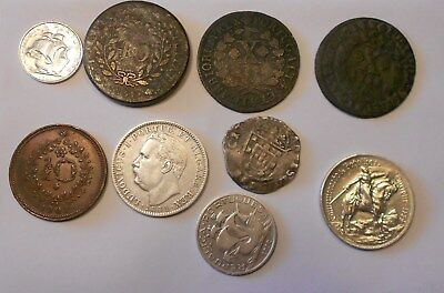 portugal  lot of 9 coins -  excelent lot  - some rare coins -- excelent