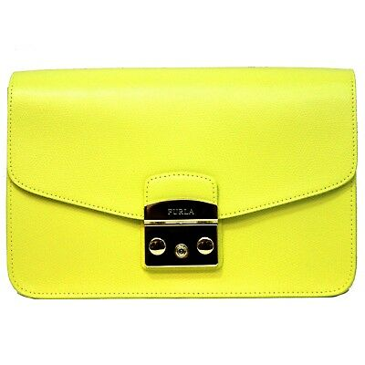 9e18cc62f9fd Woman bag Furla Metropolis S Shoulder yellow crossbody leather cedro new  920372