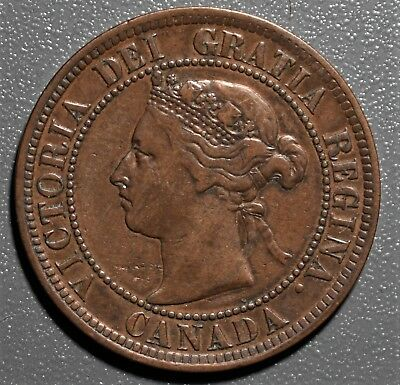 1891 Canadian Large Cent, Small Leaves, Small Date,  Grade VF,  LB5