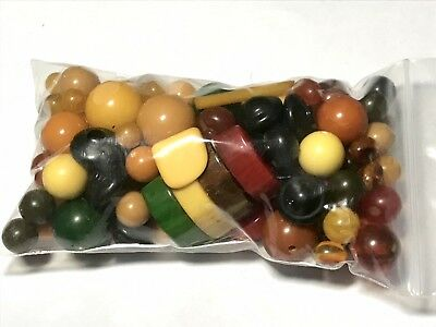 Bag Of Miscellaneous Bakelite Beads And Components 147g #1