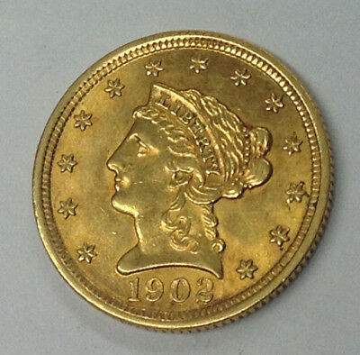 1902-P $2-1/2 Liberty Gold Coin - High End Almost Uncirculated & 100% Original