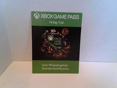 Microsoft Xbox Game Pass 14 Day Trial Code Card From E3 2018 Xbox Experience