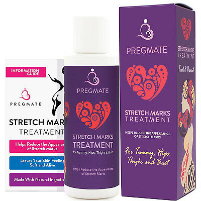 Pregmate Stretch Mark And Scar Cream Natural Organic Treatment Moisturizer