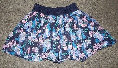 *youth Size 8--Justice Brand Floral Lace Overskirt Skirt--Excellent