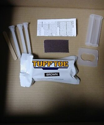 TUFF TOE Original Formula Work Boot Toe Protection & Repair BROWN