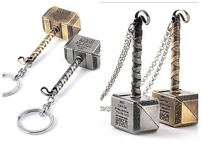 Marvel The Avengers Thor's Hammer in Necklace / Keyring Keychain Pendant