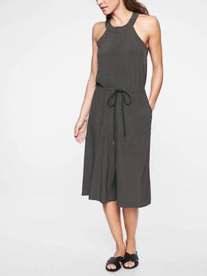 ATHLETA Mercer Romper- Black Olive NWT $128 Sz 8