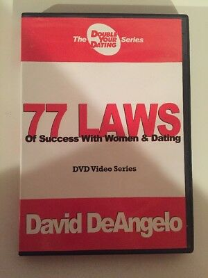 David DeAngelo's 77 Laws of Success W/ Women Double Your Dating DVD Free Ship!