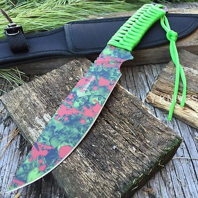 """12"""" ZOMBIE Fixed Blade FULL TANG Combat Tactical Survival Knife Hunting Bowie -F"""