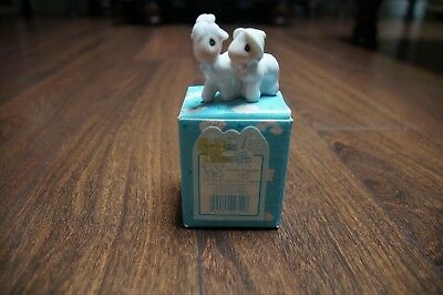 Precious Moments Two By Two GOATS 2X2 With Box Vintage