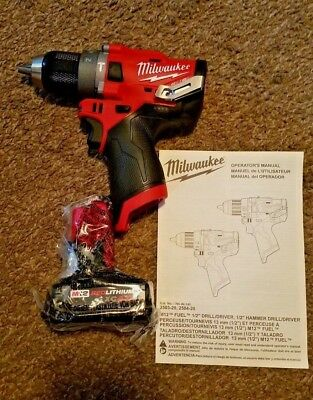 Milwaukee 2504-20 M12 FUEL 12-Volt Brushless Hammer Drill + 4.0AH Battery