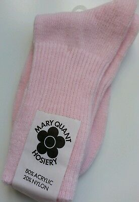 Vintage Mary Quant Socks Colour Pink One Size