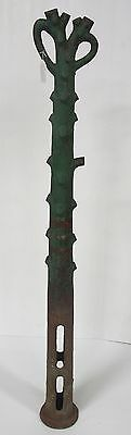 antique cast iron hitching post - cast iron tree | antique victorian industrial