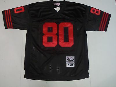 the best attitude aab5b 3389a NWT JERRY RICE #80 San Francisco 49ers Throwback M&N Jersey Alternate Black