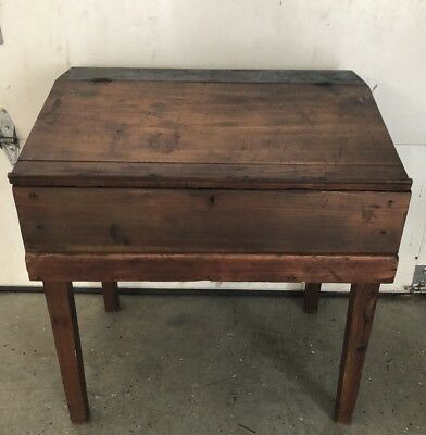 Antique Childs Chest Secretary Desk Early American Period Piece Great Look