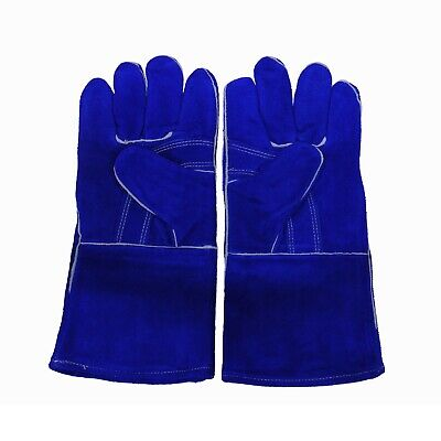 Blue Welding Gloves A Grade Split Cowhide One Size Fits Most
