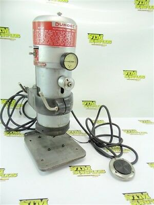"Nice! Dumore Automatic Drill Head Press Cat 20-011 W/ Pedal & Stand 5/32"" Cap"