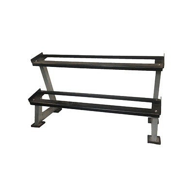 2 Tier Dumbbell Rack without saddles for dumbbell storage