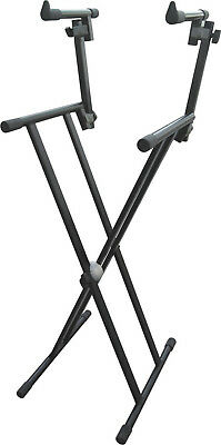 Customer Returned Artist KS027 Heavy Duty Double Tier Keyboard Stand (Double Bra