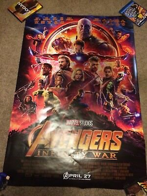 Avengers Infinity War Double Sided DS D/S Poster 27x40 Marvel Theatrical Movie