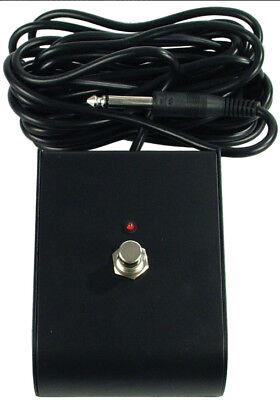Black Marshall style 1 button footswitch with LED.