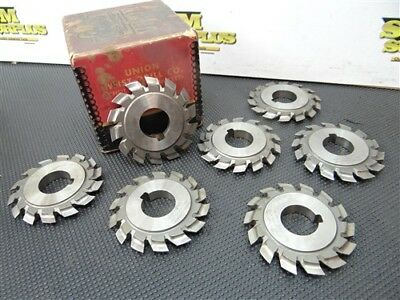 "Set Of 7 Specialty Hss Gang Slitting Cutters #a199.2605 W/1"" Bore Utd"